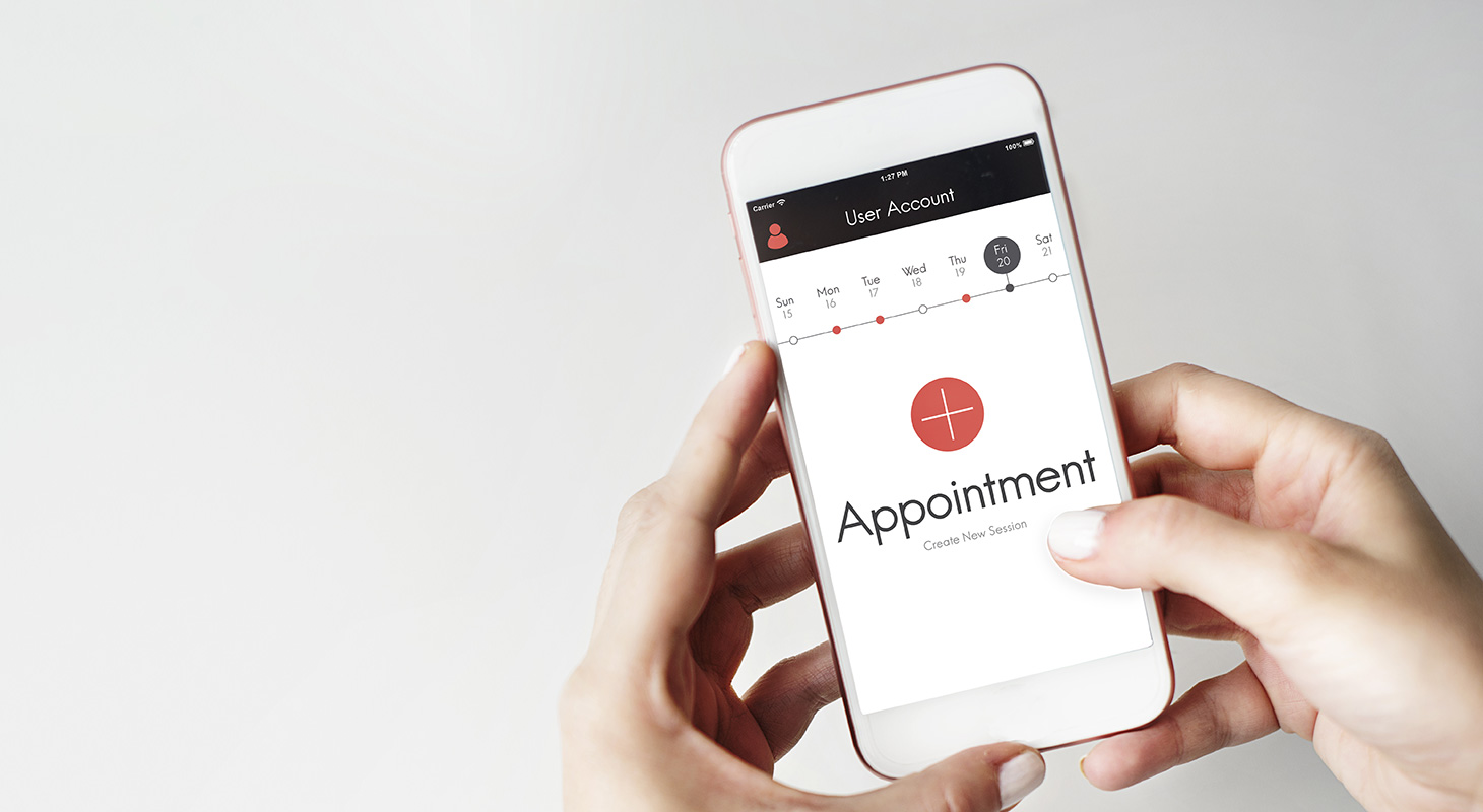 Fonctionnalité prise de rendez-vous - applications mobiles